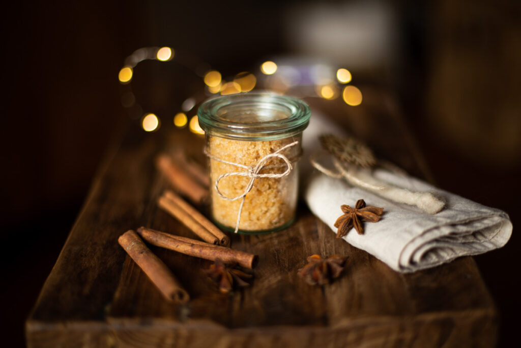 Peeling selber machen - Duftige DIY Geschenkidee zu Weihnachten