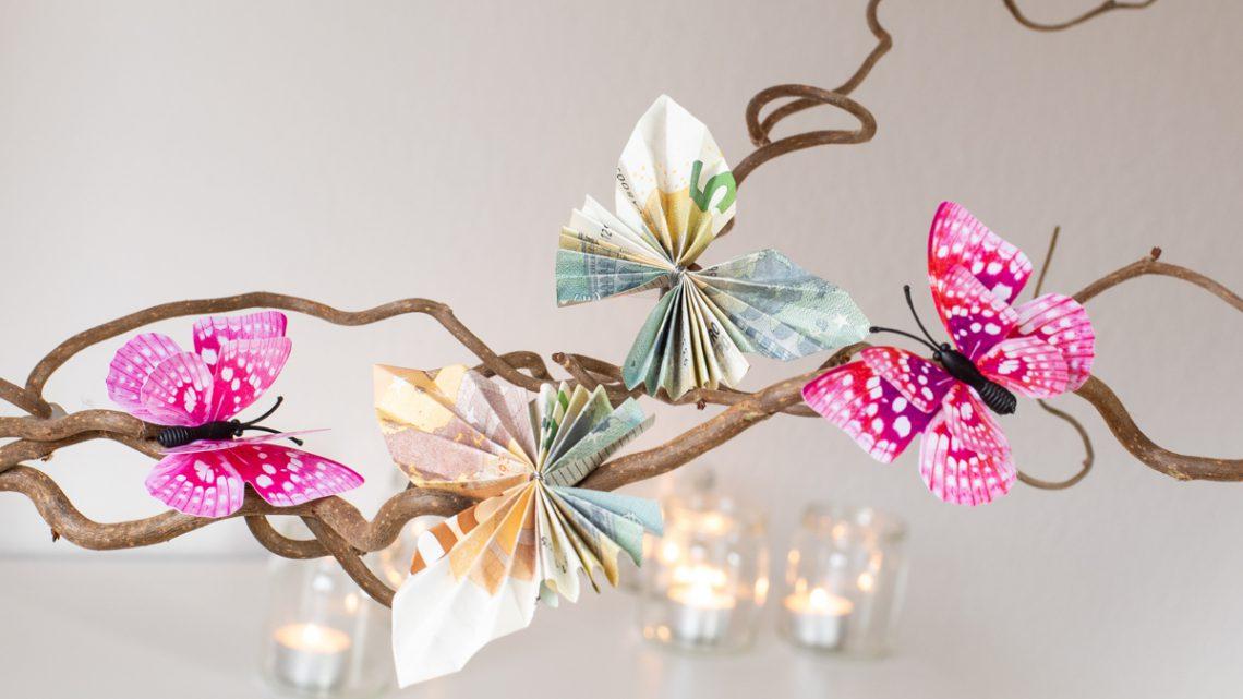 DIY: Schmetterlinge aus Geld falten – Anleitung für besondere Geldgeschenke [Werbung]