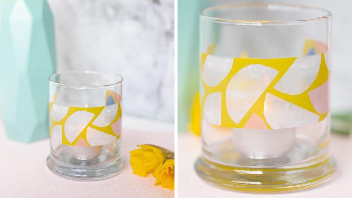 Bildtransfer mit Klebeband – DIY Upcycling für Gläser