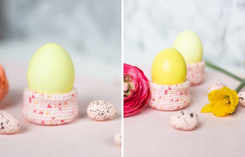 Eierbecher häkeln zu Ostern – kostenlose Anleitung für Anfänger