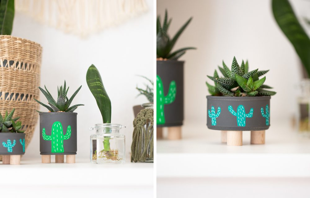 Blumentopf selber machen – DIY Mini Plant Stands