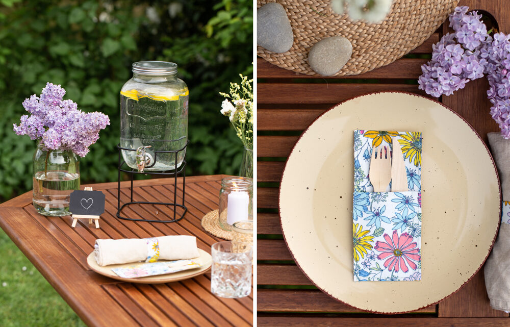 DIY Ideen für ein Sommer Picknick zu Hause [Werbung]