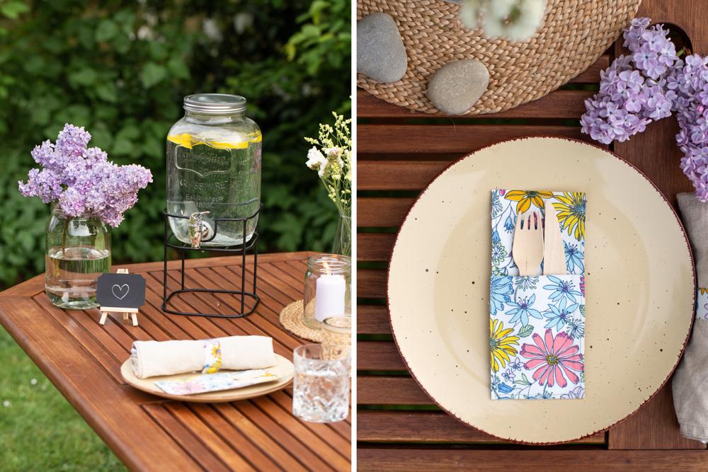 DIY Ideen für ein Sommer Picknick zu Hause