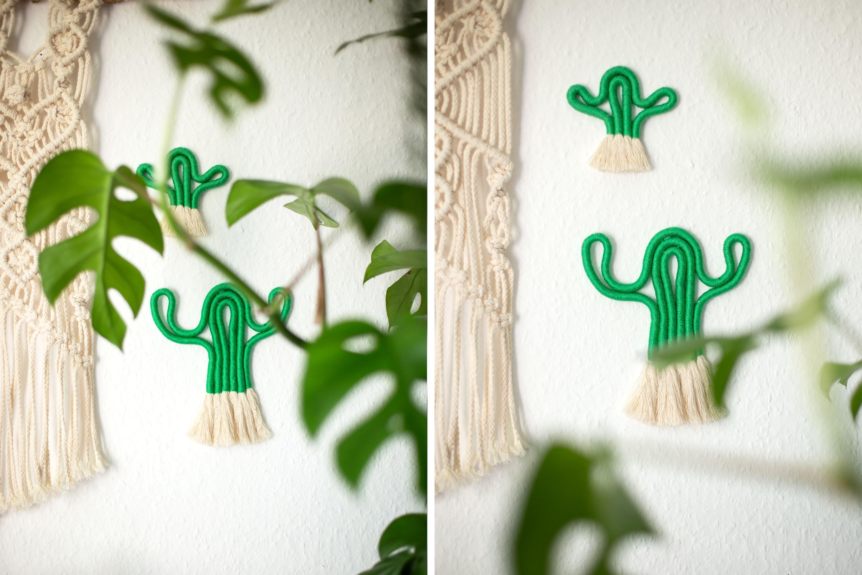 DIY Kaktus aus Wolle selber machen – Makramee Wanddeko
