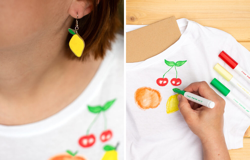 DIY: T-Shirt mit Tutti Frutti Motiven bemalen [Werbung]