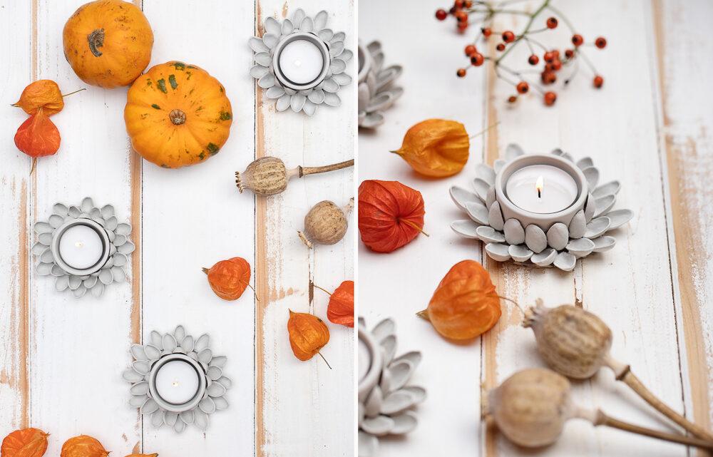 Leuchtende Herbstdeko basteln [Werbung]