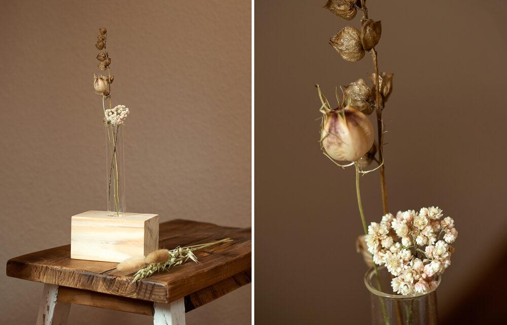 DIY Vase aus einem Reagenzglas selber machen [Werbung]