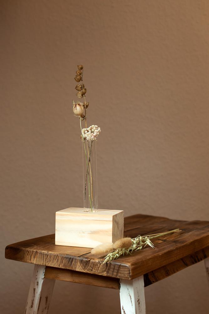 DIY Vase aus einem Reagenzglas selber machen