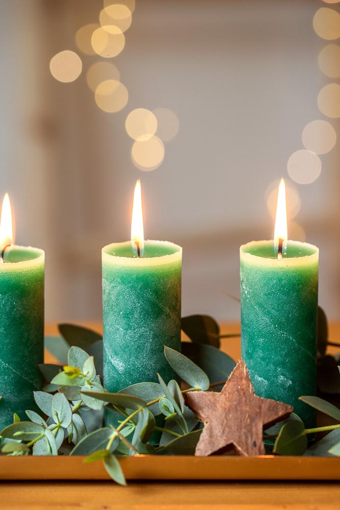 DIY Upcycling Kerzen aus Wachsresten und Klopapierrollen