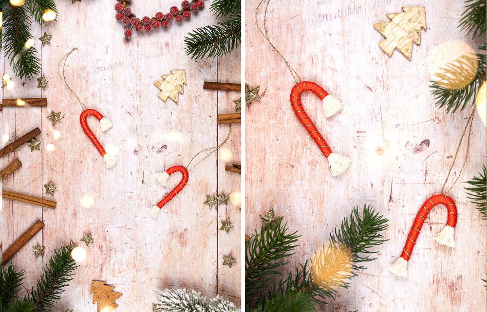 DIY Makramee Weihnachtsdeko basteln