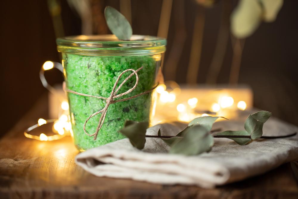 DIY Badesalz mit Eukalyptus selber machen