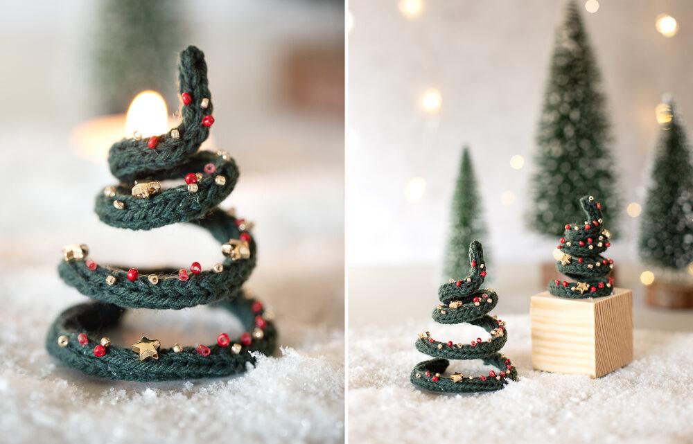 DIY Tannenbäume aus Wolle basteln