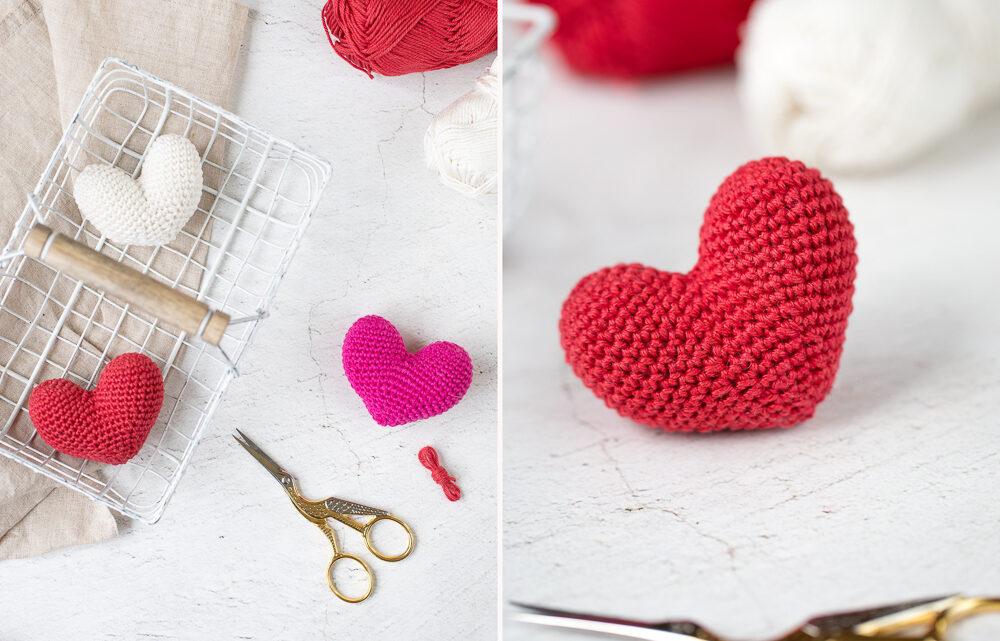 Herz häkeln – DIY Anleitung für Anfänger