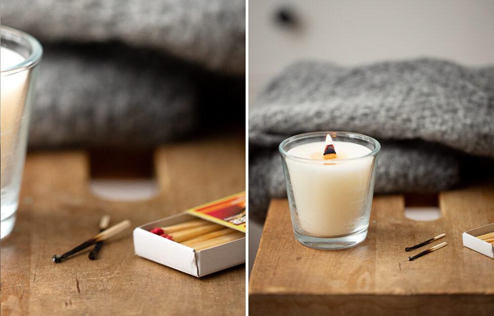 DIY Kerzen mit Holzdocht selber machen