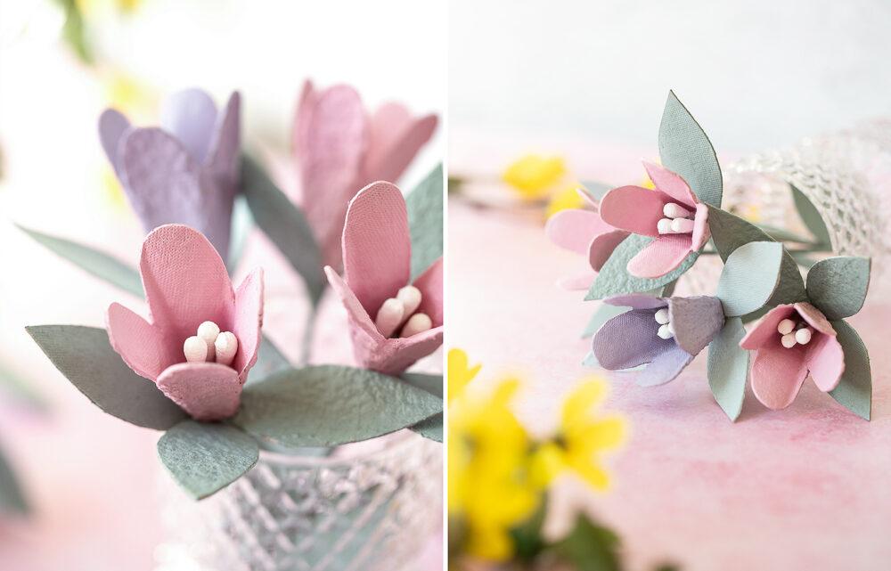 DIY: Blumen aus Eierkartons basteln