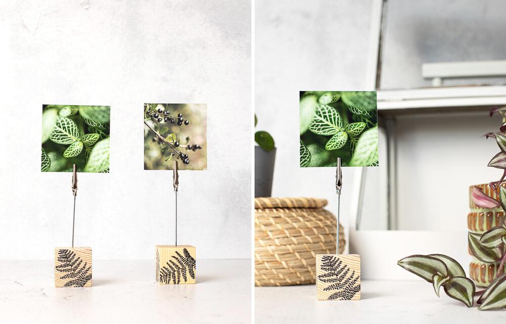 DIY Fotohalter aus Holz selber machen