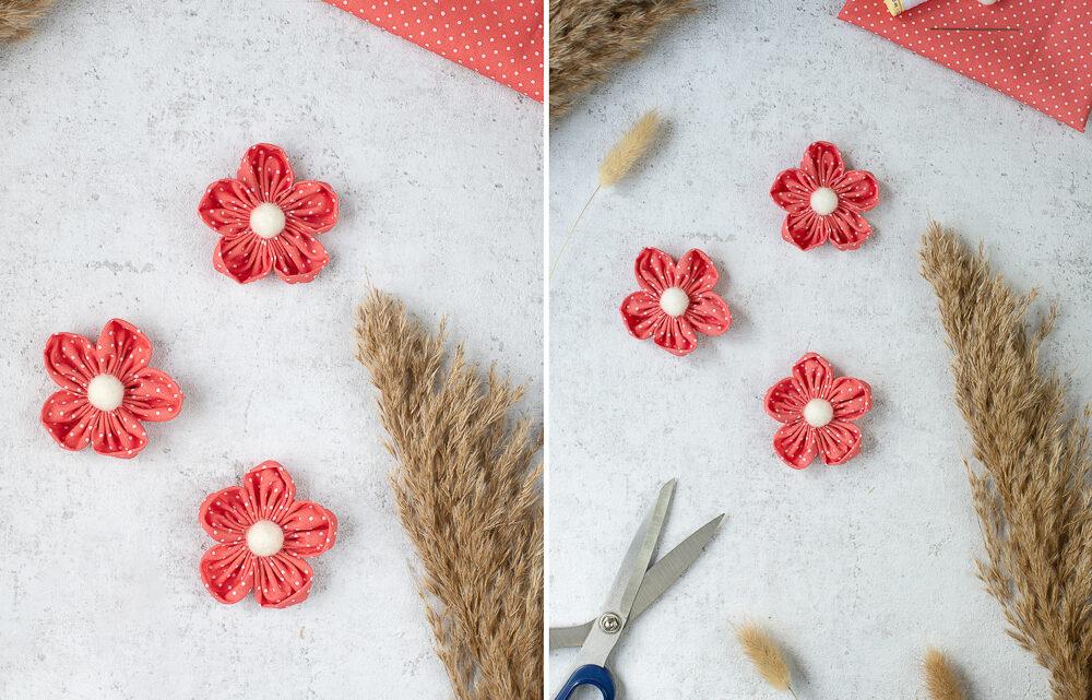 Stoffreste verwerten – DIY Stoffblumen basteln