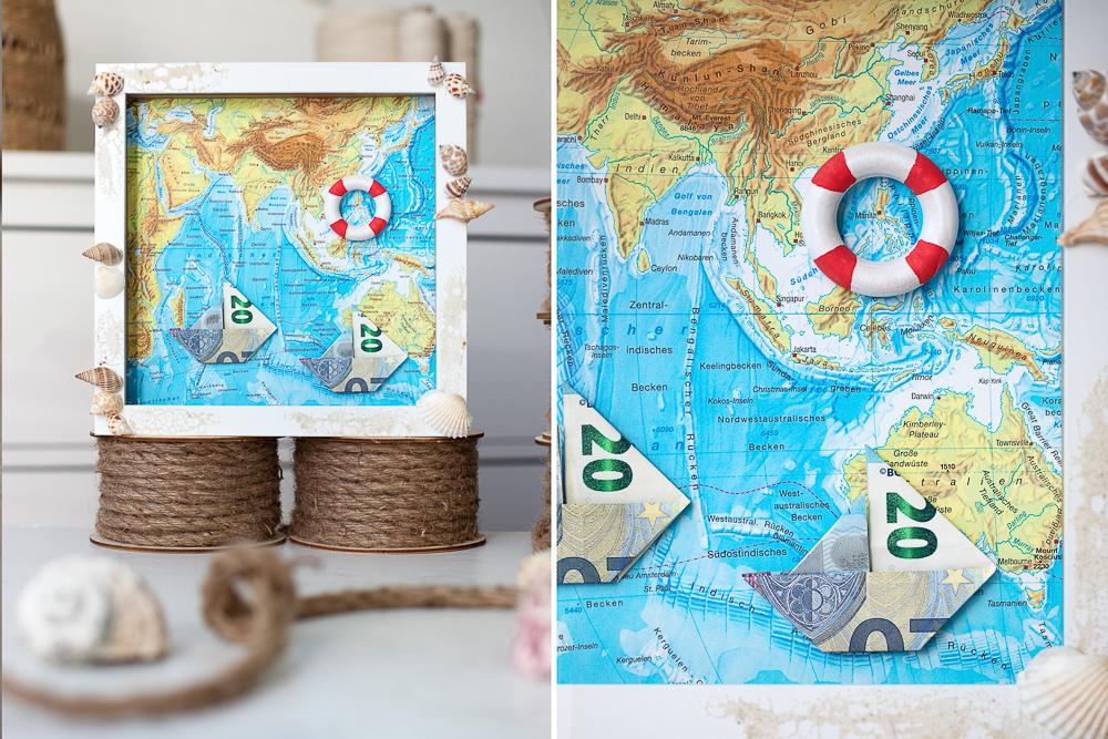Boote aus Geld falten - DIY Geldgeschenk