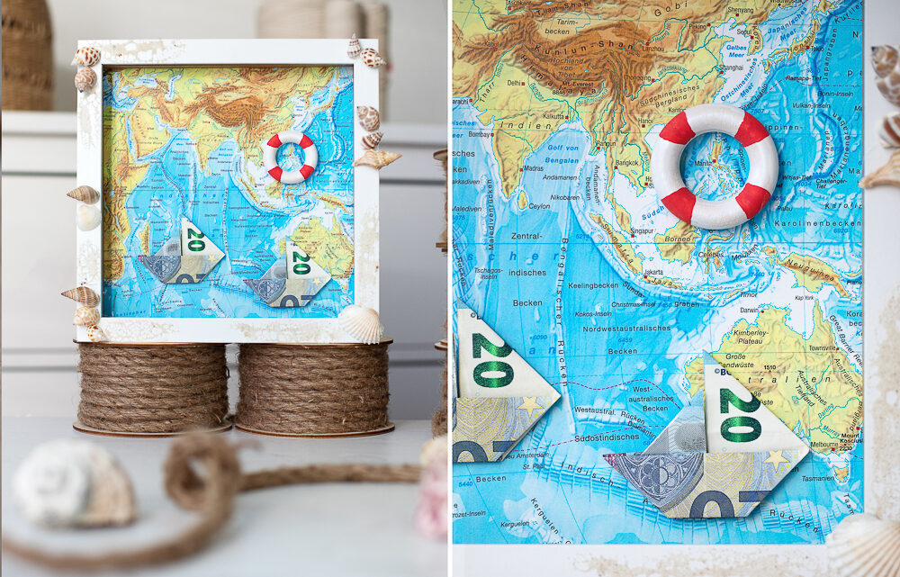 Boote aus Geld falten – DIY Geldgeschenk