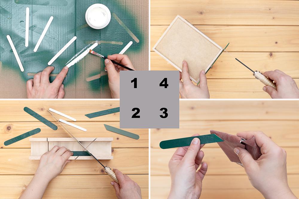 DIY IKEA Hack Moppe mit Chevron Muster
