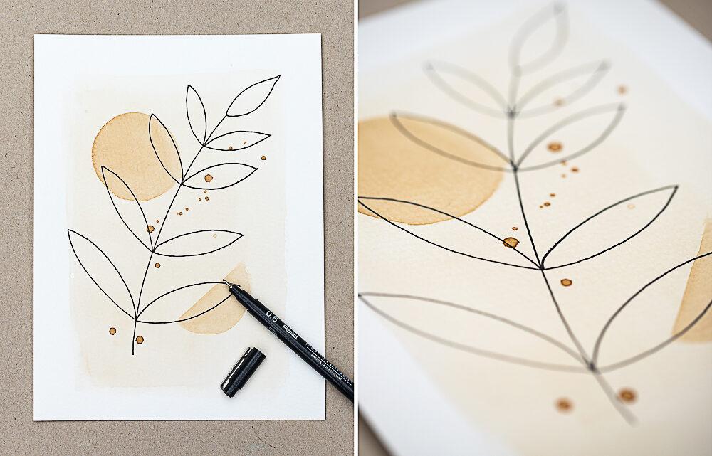 Malen mit Kaffee – DIY Kaffeekunst