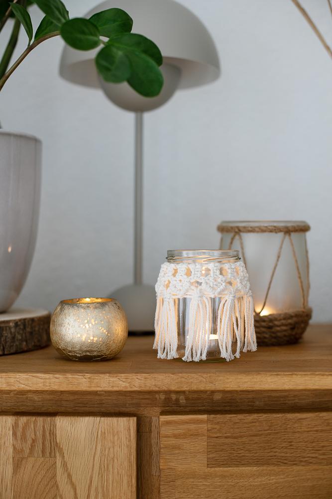 Ein Makramee Windlicht selber machen - DIY Anleitung für Anfänger