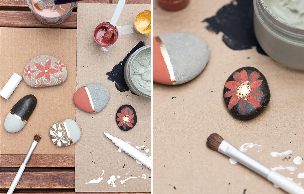 Steine bemalen mit Kreidefarbe – DIY Sommerdeko