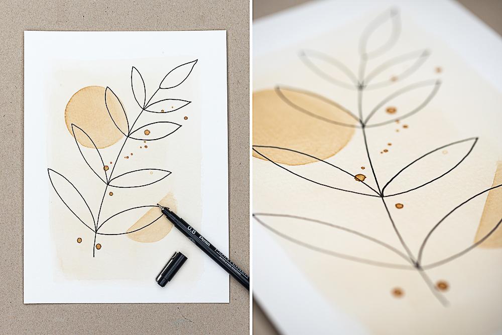 DIY Kaffeekunst - Malen mit Kaffee