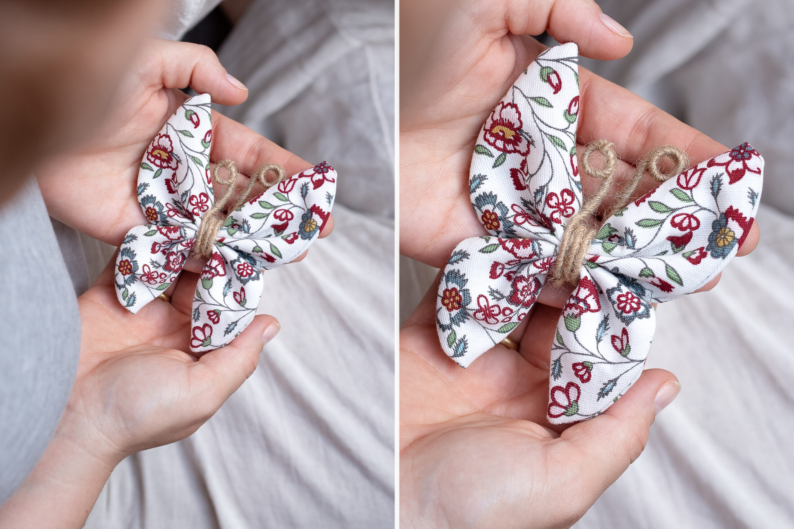 DIY Schmetterlinge nähen ohne Schnittmuster